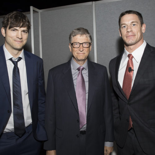 Ashton Kutcher, Bill Gates, and John Cena
