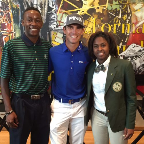 Billy Horschel with First Tee of East Lake students